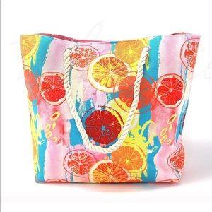 Handbags - Large Citrus Fruits Tote Bag